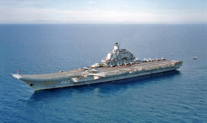 File photo of the Russian aircraft carrier Admiral Kuznetsov
